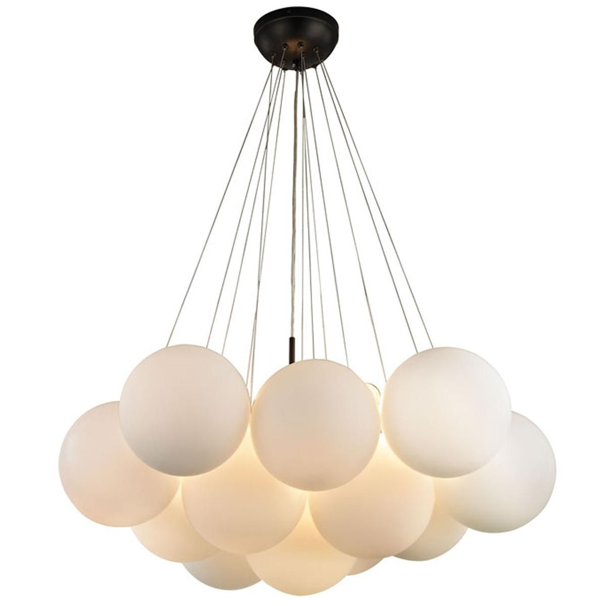 Gathered Globe Chandelier - Small