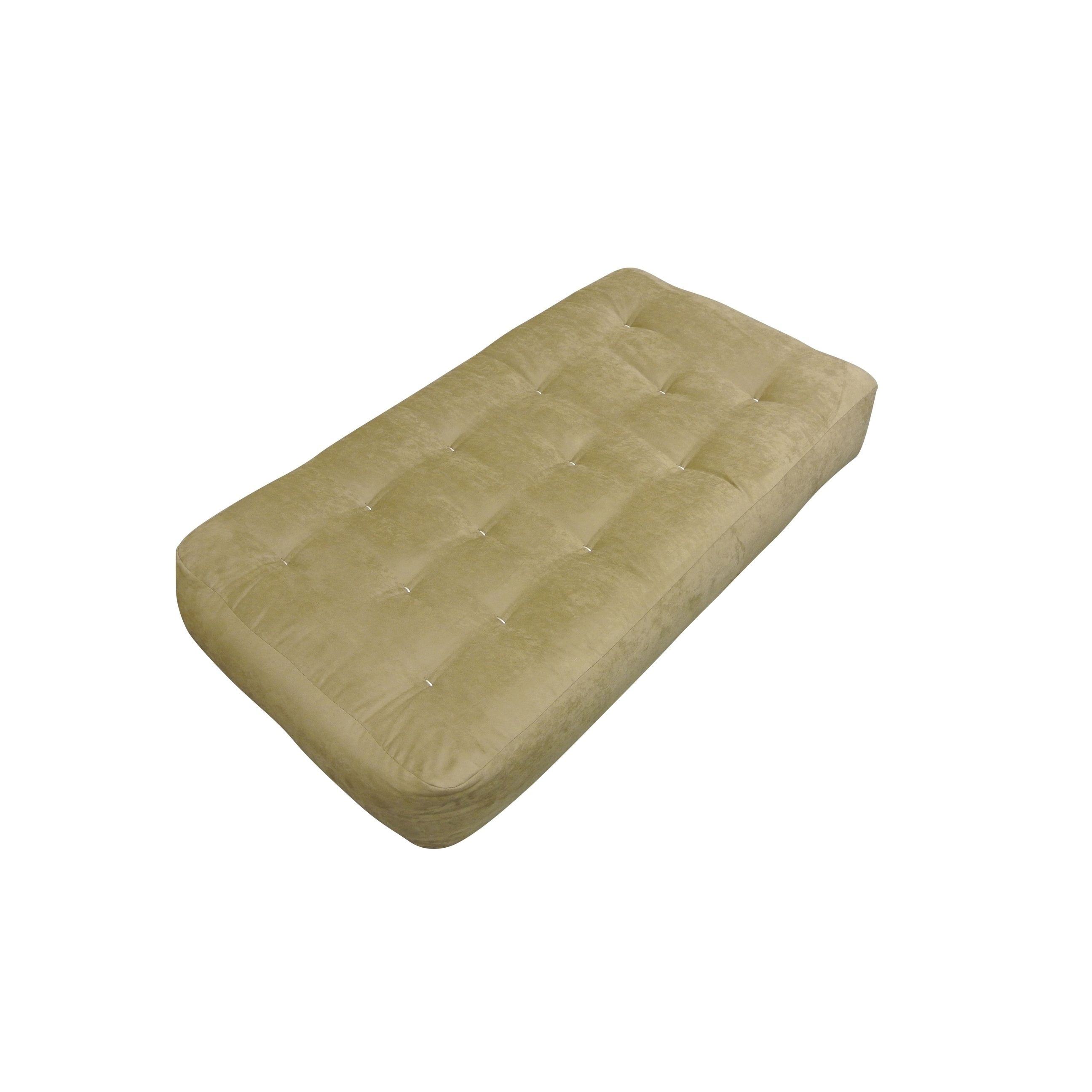 chocolate microfiber single foam cotton 8 inch chair size futon