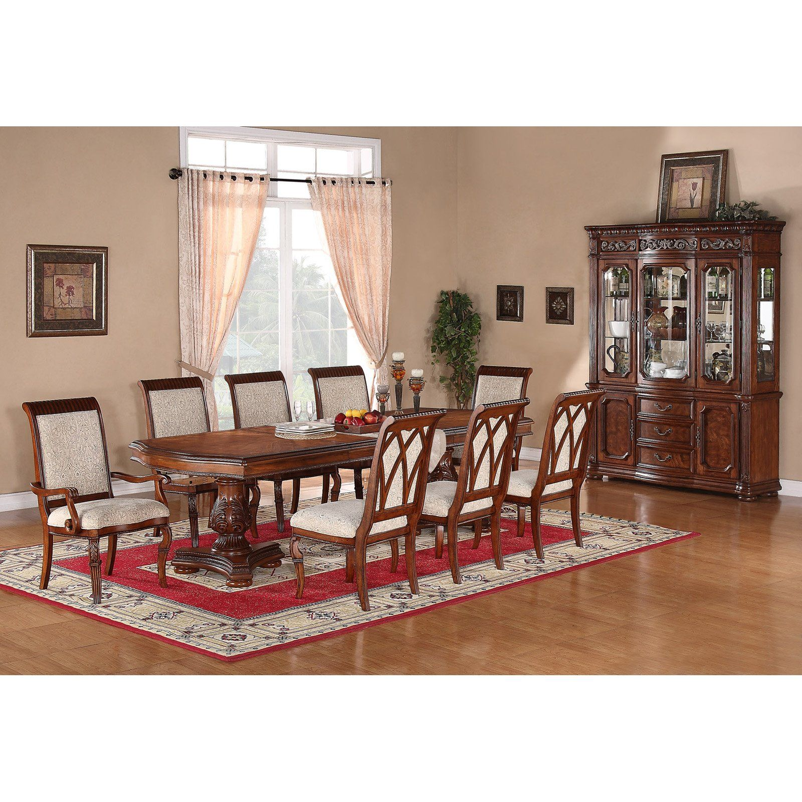 Cordoba Double Pedestal Dining Set $2 990 for table 6 side chairs