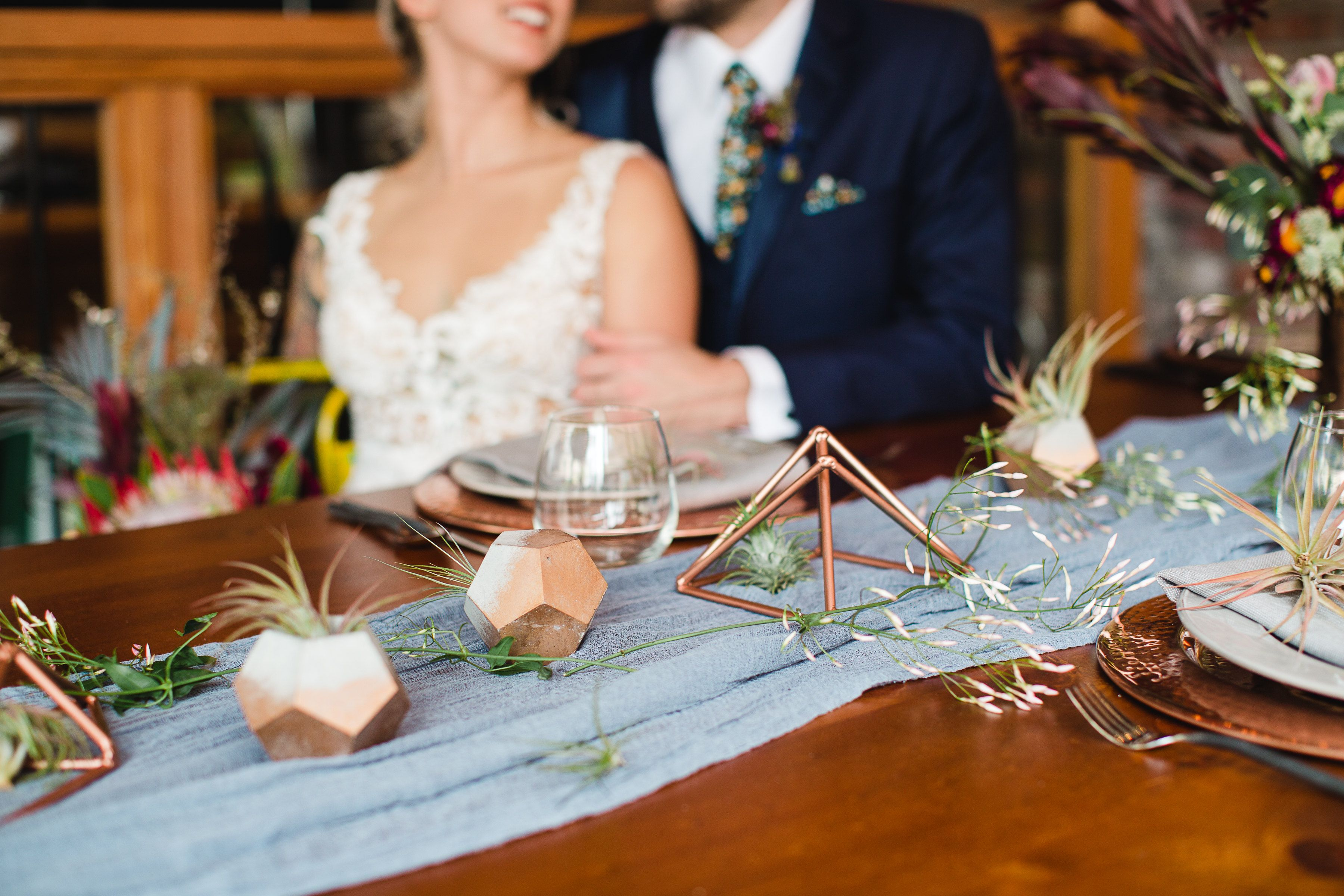 Light Blue Gauze Runner for Weddings Events Centerpieces Runner