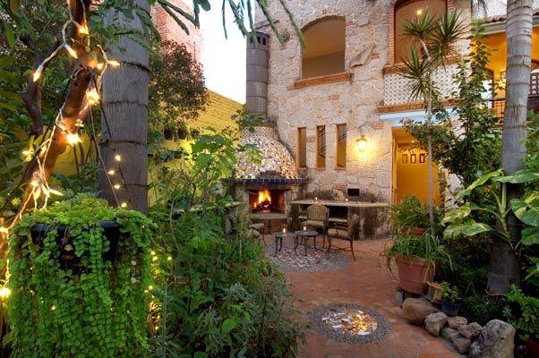 Gardens Of Casa De Las Flores Bed And Breakfast Hotel In Tlaquepaque Jalisco Mexico