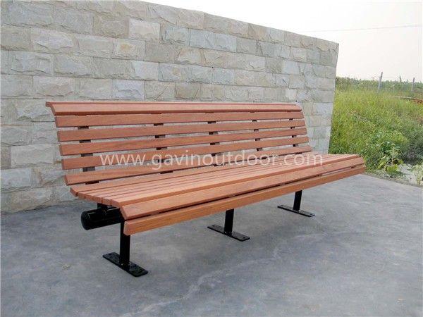 7 feet long wooden park bench outdoor wooden garden bench view