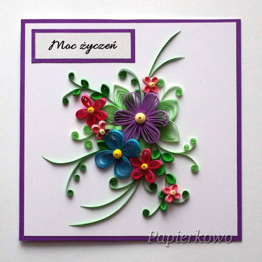 Kartka Wykonana Przeze Mnie Na Dzien Babci Quillingcard Quillingflowers Quilling Paperflower Cards Handmade Paper Quilling Paper Ornaments