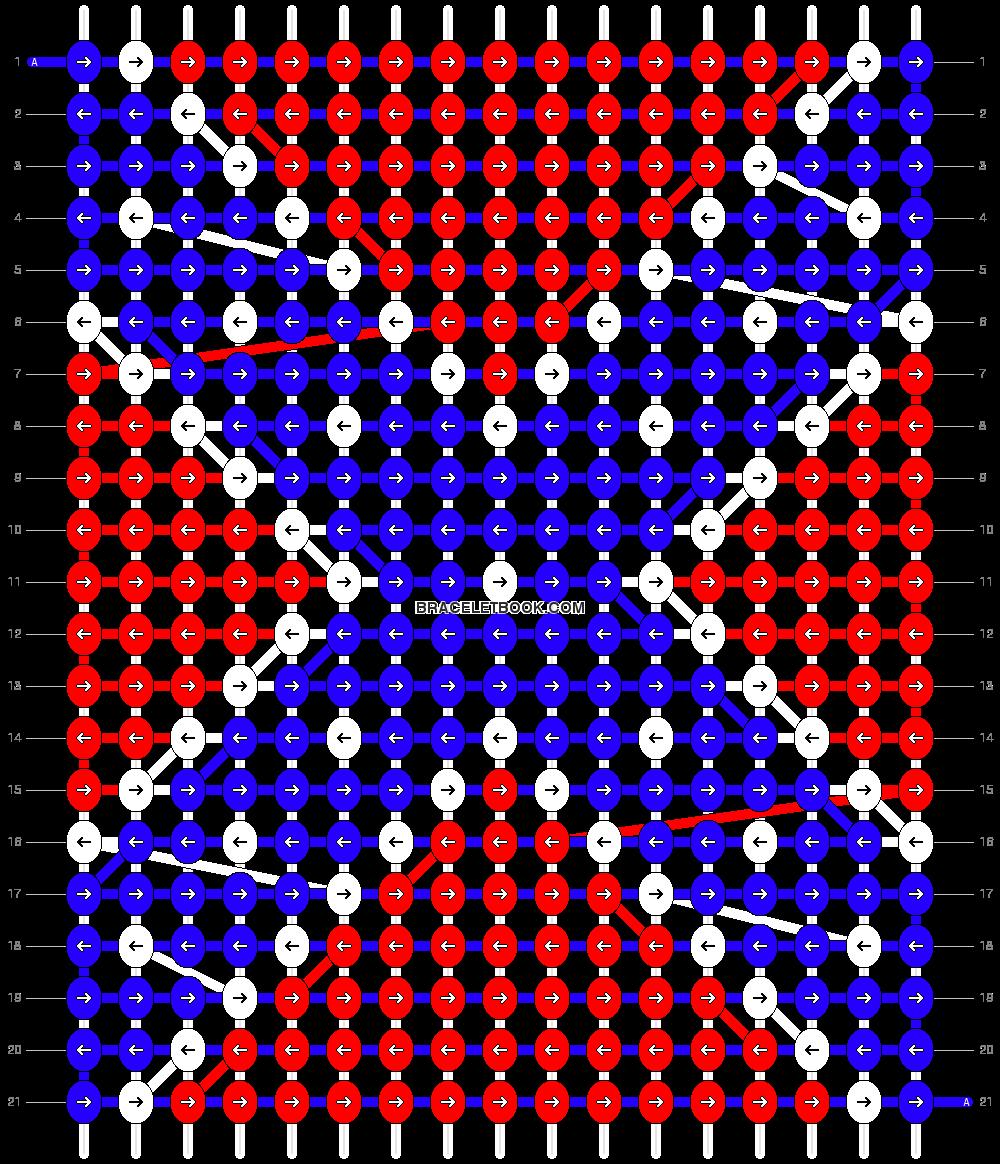 Alpha Friendship Bracelet Pattern 13432 Alpha Patterns Native American Beadwork Patterns Pony Bead Patterns
