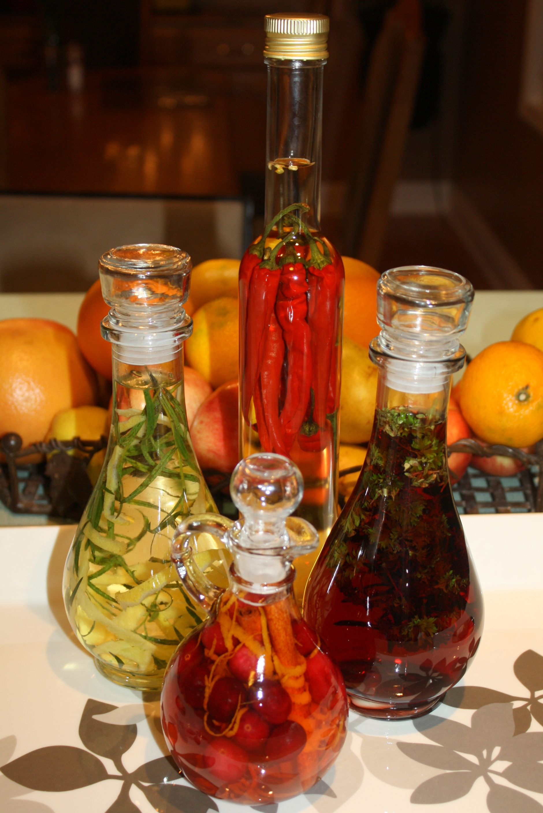 Gifts From The Kitchen Infused Vinegar Getty Stewart Infused Vinegar Recipe Infused Vinegars Flavored Vinegars