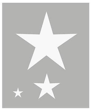 small 5 point star stencil christmas ideas pinterest star