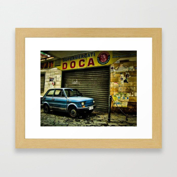 FIAT 126, Naples. Framed print by Yellow 14. **Click image to expand**. . #FIAT #FIAT126 #classicfiat #classiccar #vintagecar #retrocar #oldcar #smallcar #cutecar #italiancar #citycar #car #carlovers #carenthusiast #petrolhead #naples #napoles #napoli #portici #italy #italia #photography #photograph #wallart #homedecor #accessories #homeaccessories #forthehome #fortheoffice