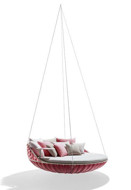 Milan f te la cr ation contemporaine modalisa fauteuil suspendu decor outdoor decor et - Siege suspendu salon ...