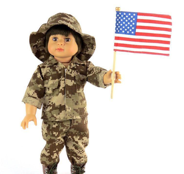PATRIOTIC Desert Camo Army Outfit w/ Flag fits 18 American Girl Boy Logan Doll #boydollsincamo #boydollsincamo PATRIOTIC Desert Camo Army Outfit w/ Flag fits 18 American Girl Boy Logan Doll #boydollsincamo #boydollsincamo