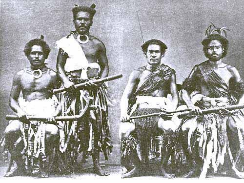 Photograph Of Four Fijian Warriors Fiji Culture Samoan