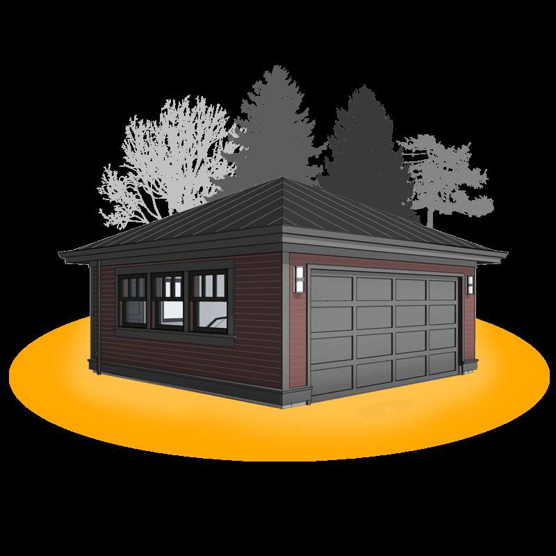 20'x20' Elizabethan Style TwoCar Garage in 2020