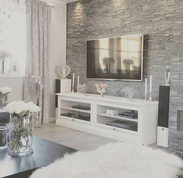 Pin by Terin Martin on Living Pinterest Living rooms, Decoration - wohnzimmer ideen fernseher