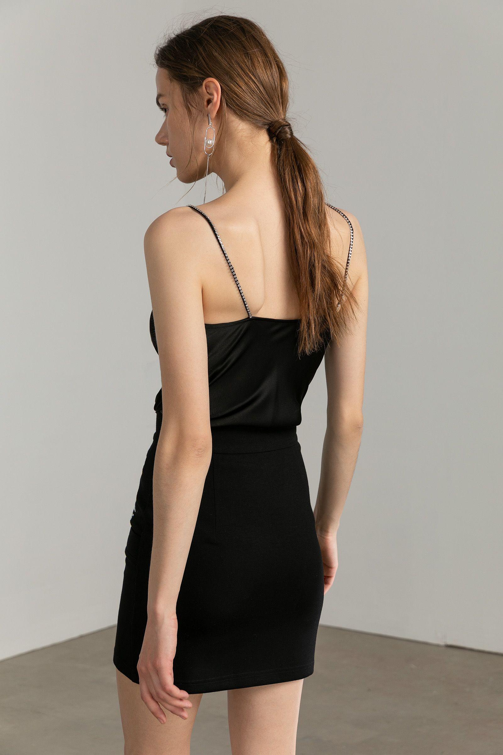 Dita Black Star Studded Top Cowl Neck Dress Boho Mini Dress Black Star [ 2400 x 1600 Pixel ]