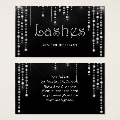 Elegant sparkles glitter business card sparkles glitter and elegant reheart Image collections