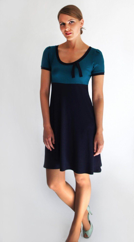 Kleid Blau Petrol Ava Kurzarm Figurgunstige A Linie Lange Nach Wahl Kleid Bordeaux Coole Kleider Kleider