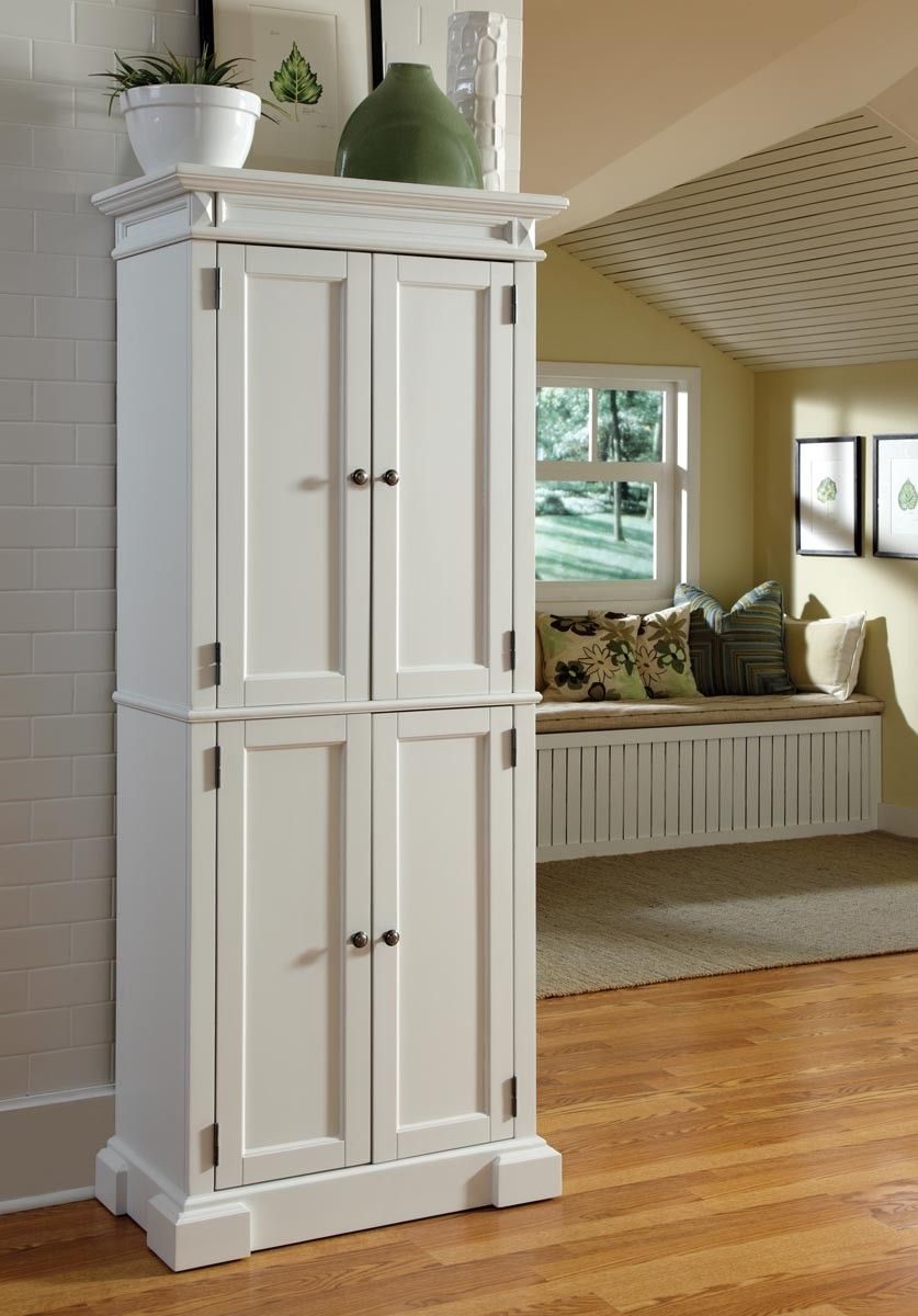 Home Styles Americana Pantry In White Kitchen Pantry Pinterest