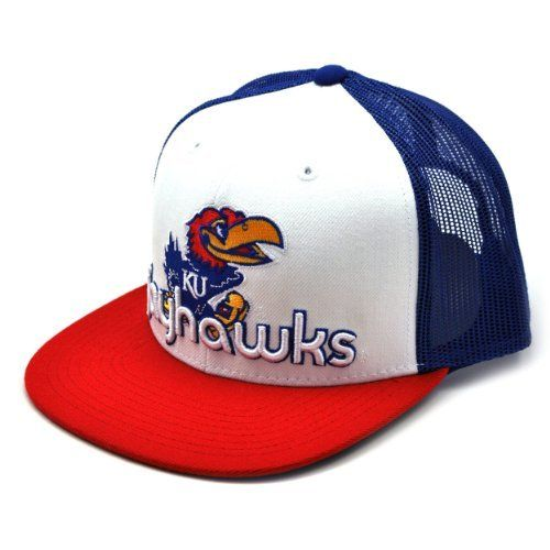 detailed pictures 8f1f3 e8947 NCAA Kansas Jayhawks Word Up Adjustable Snapback Cap, White, One Size by Top  of the World.  11.10