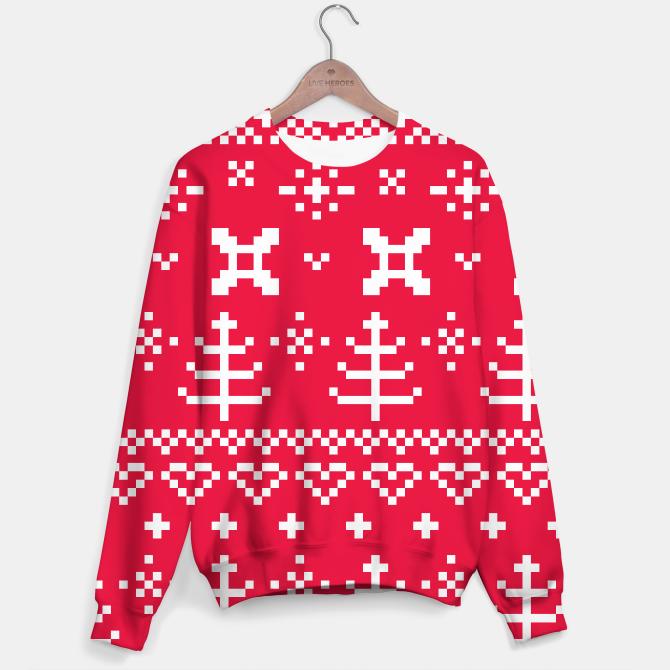 Sweater luxury Folk RED WHITE LOVE EDITION
