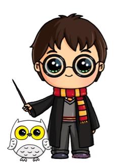 Harry Potter Avec Son Hibou Dessins Dessin Kawaii 365