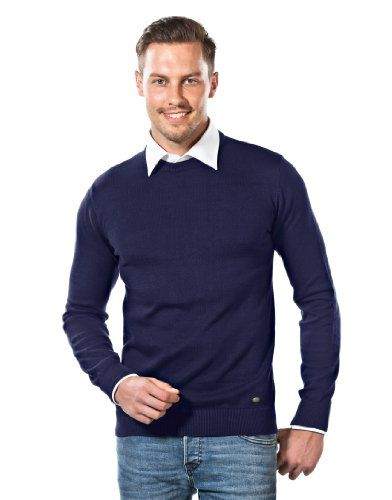 VB Sweater - Crew-Neck, dark blue