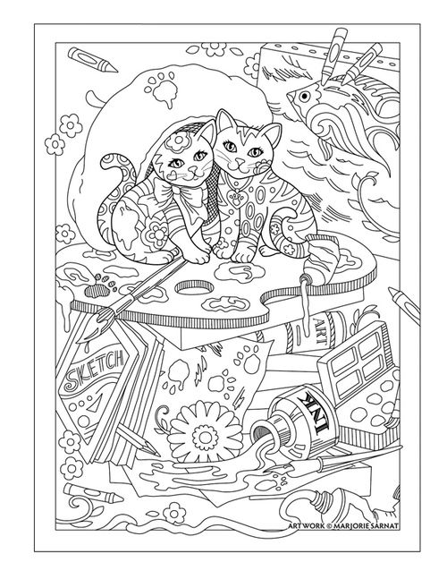 artist cats - 01 | Coloring Pages | Pinterest | Laminas para ...