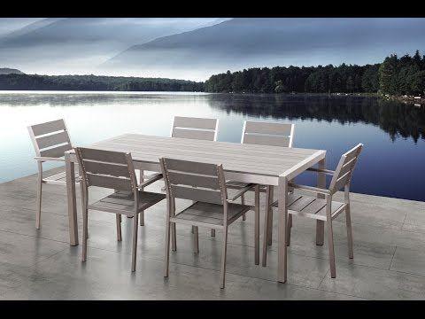 Gartenmobel Set Kunstholz Grau 6 Sitzer Vernio Gartentisch
