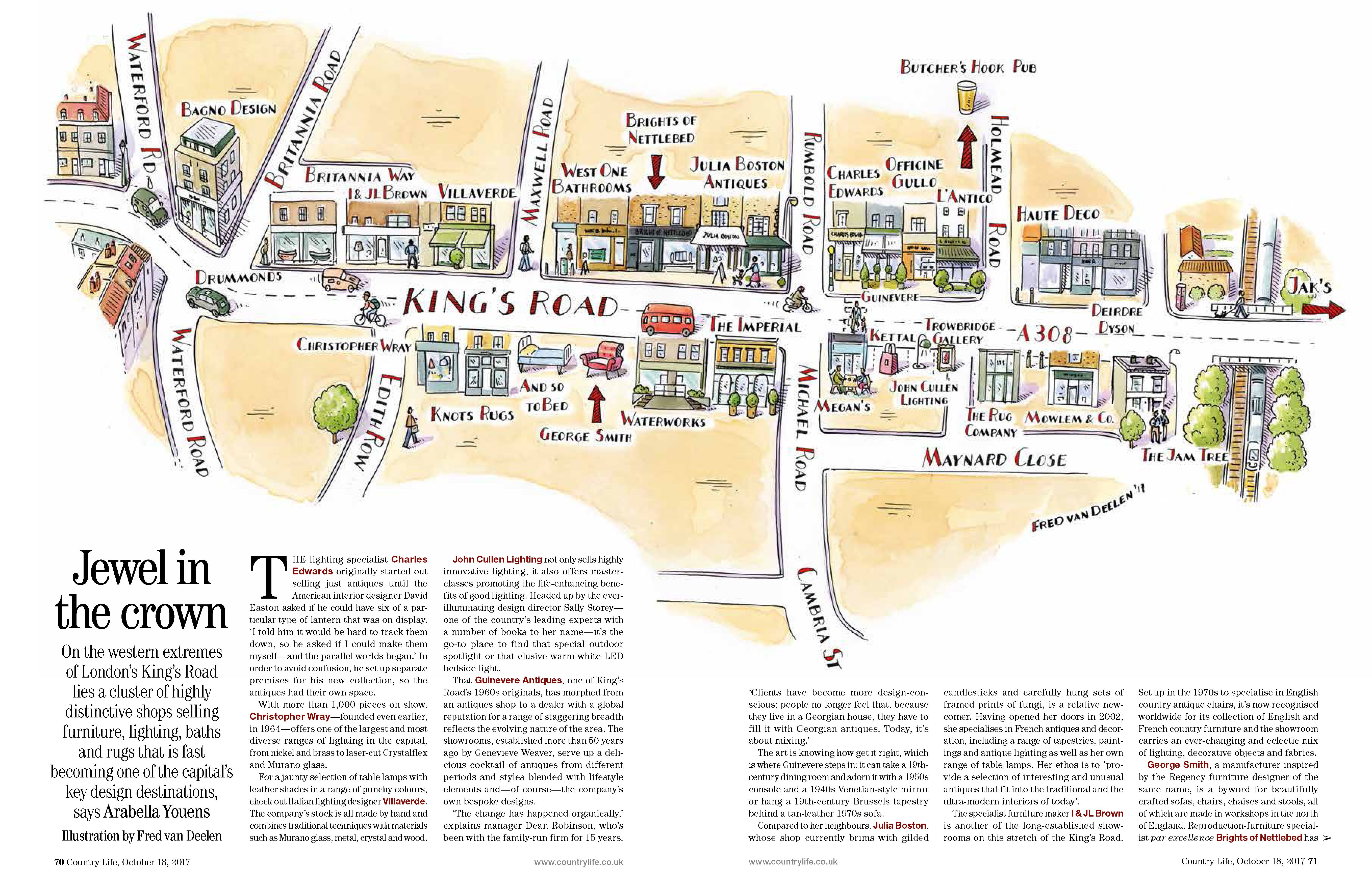 Country Life Magazine Map Of King S Road Fred Van Deelen