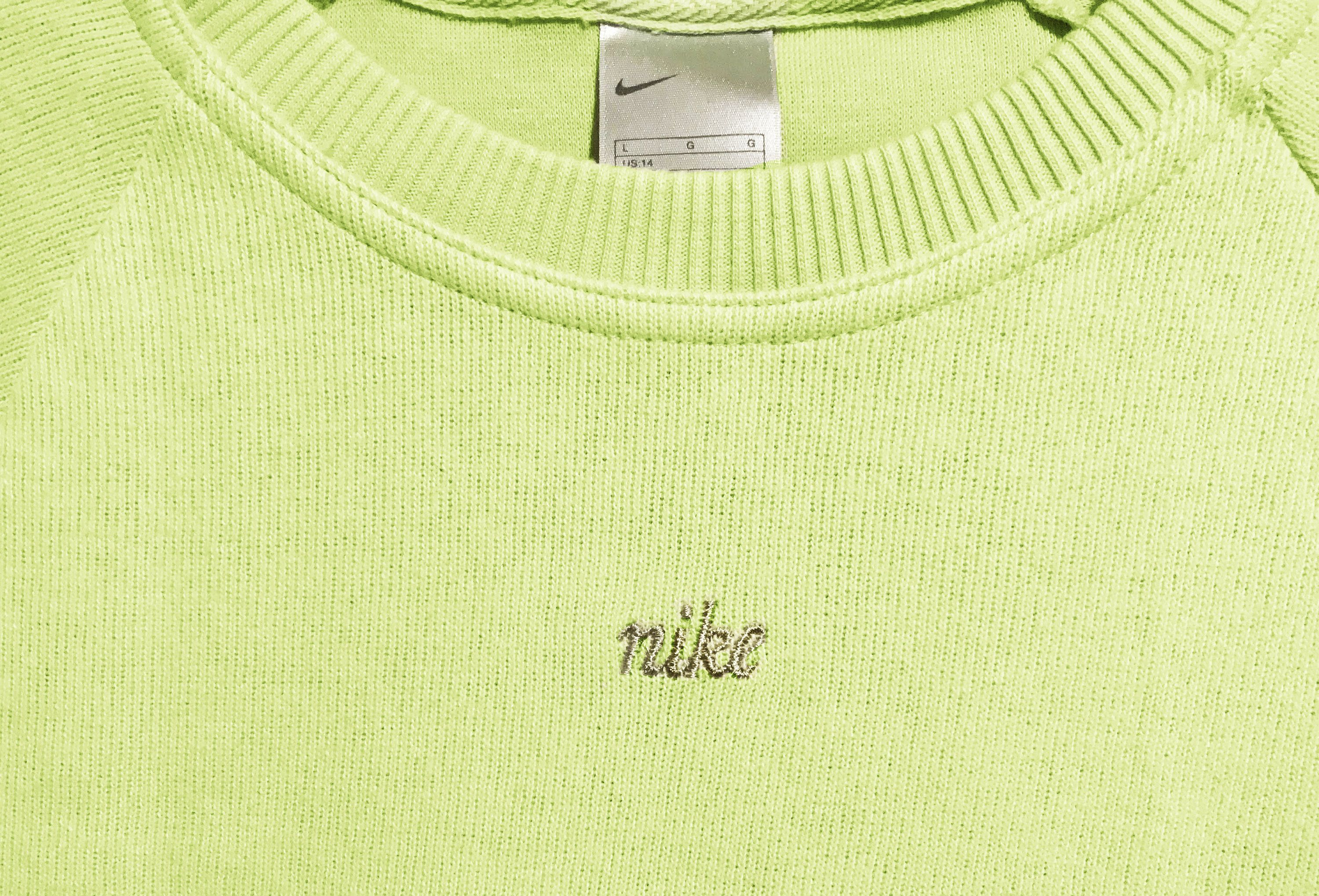 Vintage 90s Nike Spell Out Logo Swoosh Sweatshirt Green Size S New With Tags Sweatshirts Nike Vintage Nike [ 2038 x 3000 Pixel ]