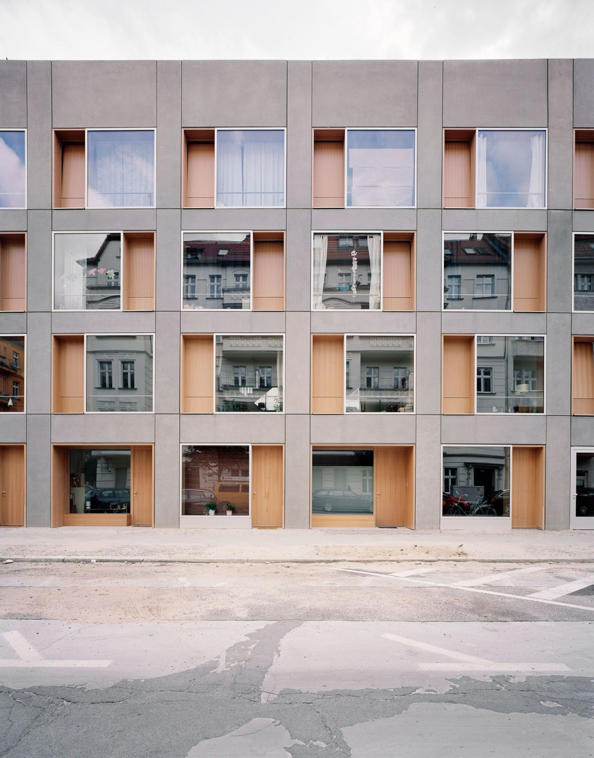 An urban residential estate – individual homes, a large ...