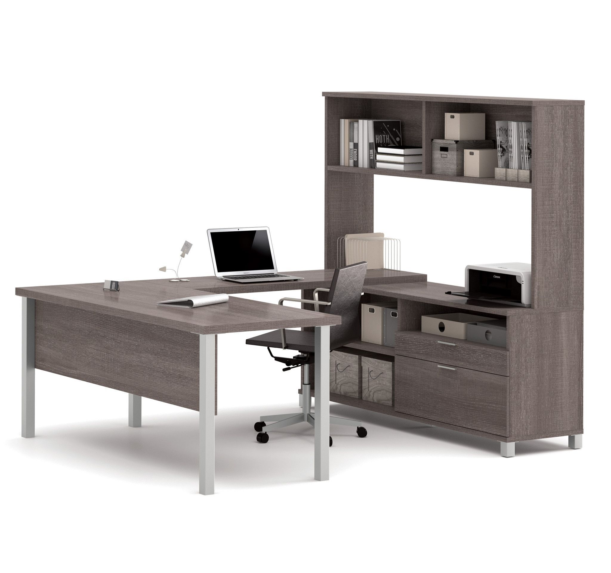 desk espresso hub com with executive grain kitchen charger hutch dining onespace amazon usb and wood dp