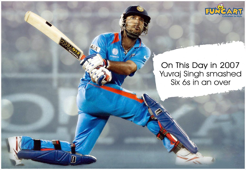On This Day In 2007 Yuvraj Singh Smashed Six 6s In An Over Yuvraj Legend Www Funcart In Funcart Yuvi Teamindia Cr Yuvraj Singh Singh Cricket Wallpapers
