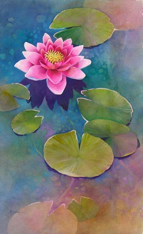Pin By Nguyen Thanh On Art Flowers In 2019 Watercolor Paintings