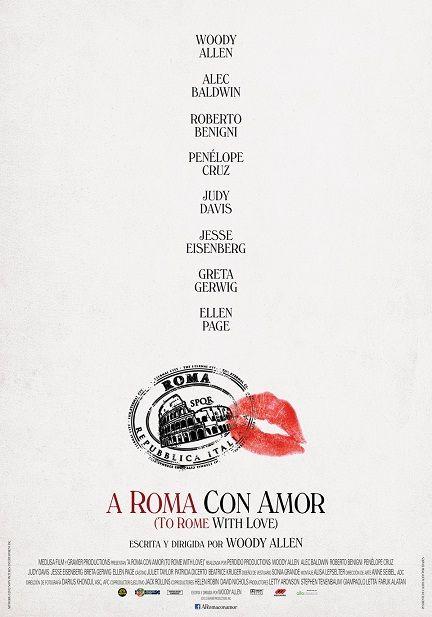 Cartel de A Roma con amor, dirigida por Woody Allen