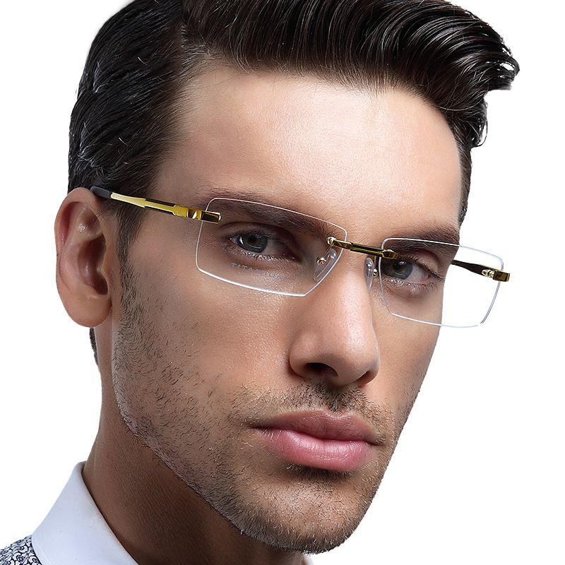 Pur Titanium lunettes lunettes hommes de marque lunettes à montures de mode  Silhouette sans monture de 35e32484594d