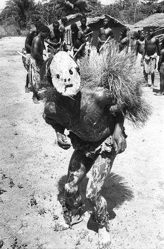 Initiation rituals among Ndaka people. Near Epulu, Ituri Forest, Congo (Democratic Republic), [negative] PHOTOGRAPHER: Elisofon, Eliot