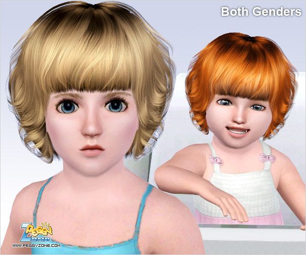 Curly Bob Hairstyle Id 386 By Peggy Zone Sims 3 Hairs Curly Bob Hairstyles Curly Bob Sims Hair