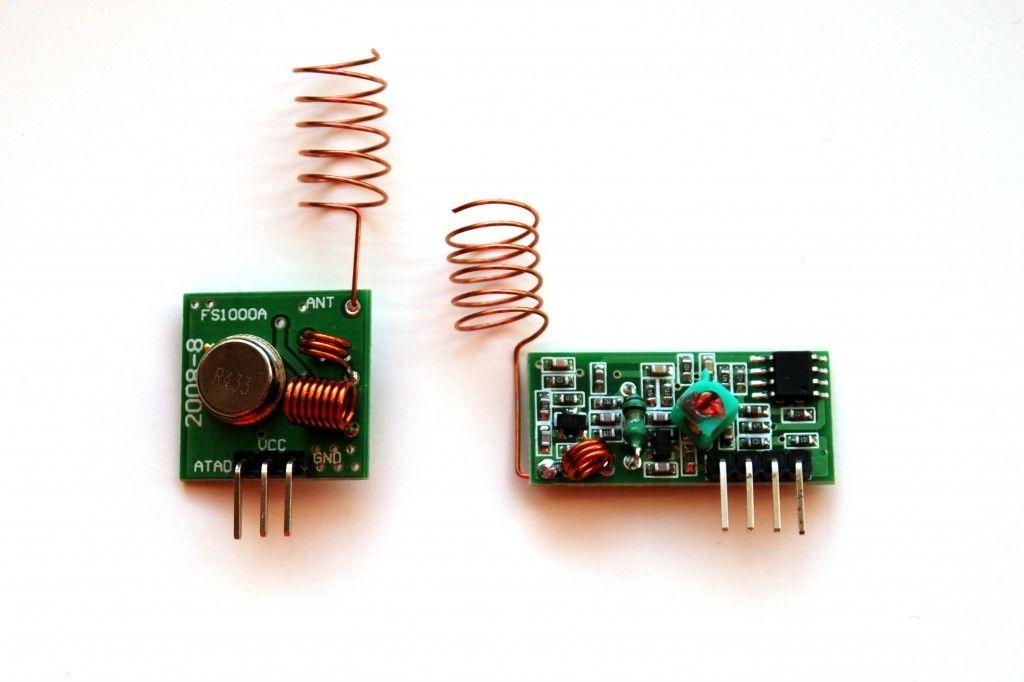 FS1000A and XY-MK-5V 433MHz RF modules for Raspberry Pi
