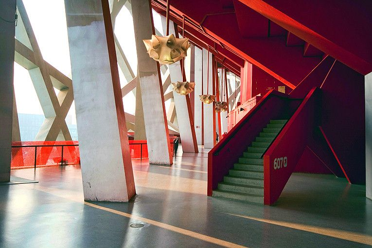 "Beijing ""Bird's Nest"" National Stadium designed by Herzog ..."