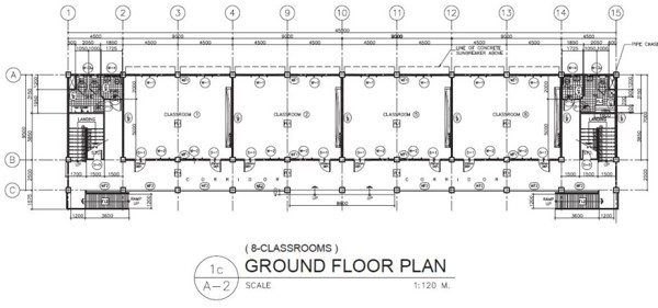 Deped New School Building Design Eight Classrooms Ground Floor