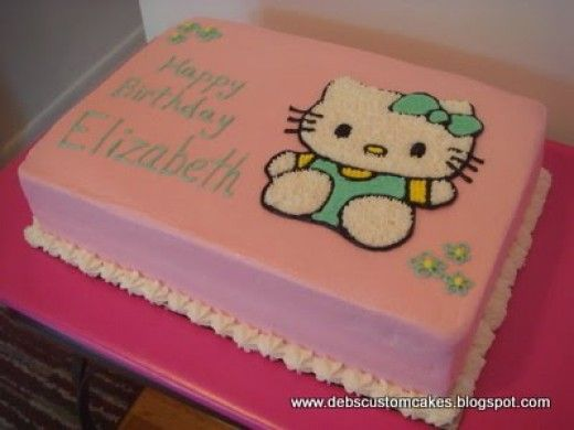 How To Make Your Own Hello Kitty Cake Hello kitty cake Kitty cake