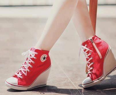 050716d230c62b High-heels and converse  YourPinterestLikes Red Converse