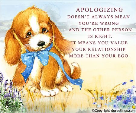 Send these sorry quotes and patch up with your friend whom you have - apology card messages