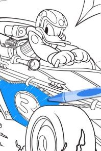 Mickey and the Roadster Racers Coloring Page | Disney Family | 296x198