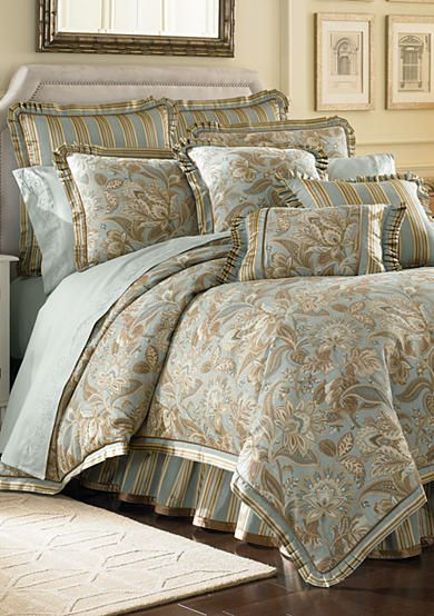 J Queen New York Valdosta Aqua Comforter Set Online Only Bedroom