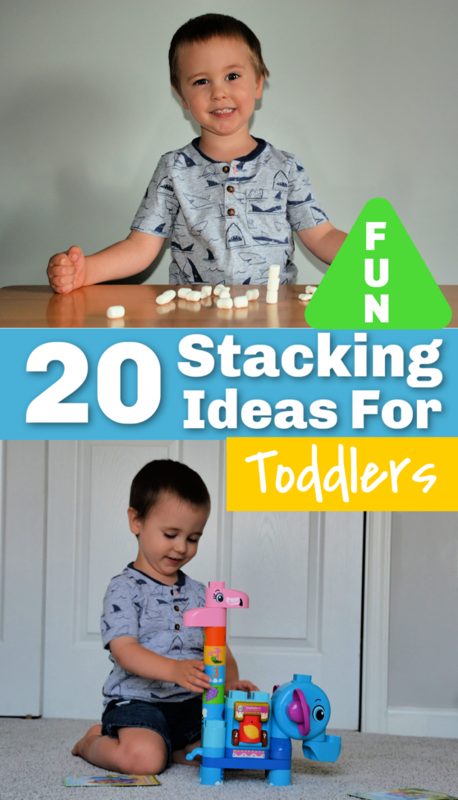 Ad 20 Fun Stacking Ideas For Toddlers Including Fun New Blocks From Leapfrog Leapbuildersbb Toddler Activities Fun Activities For Kids Toddler Preschool