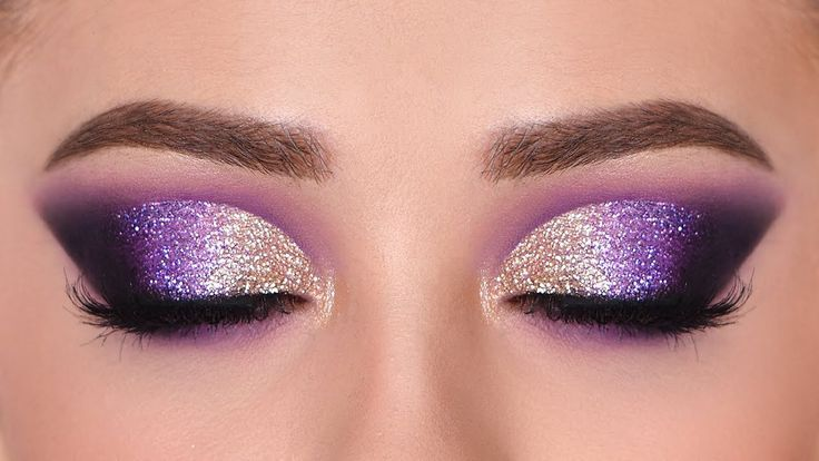 Eye Makeup Purple Glitter