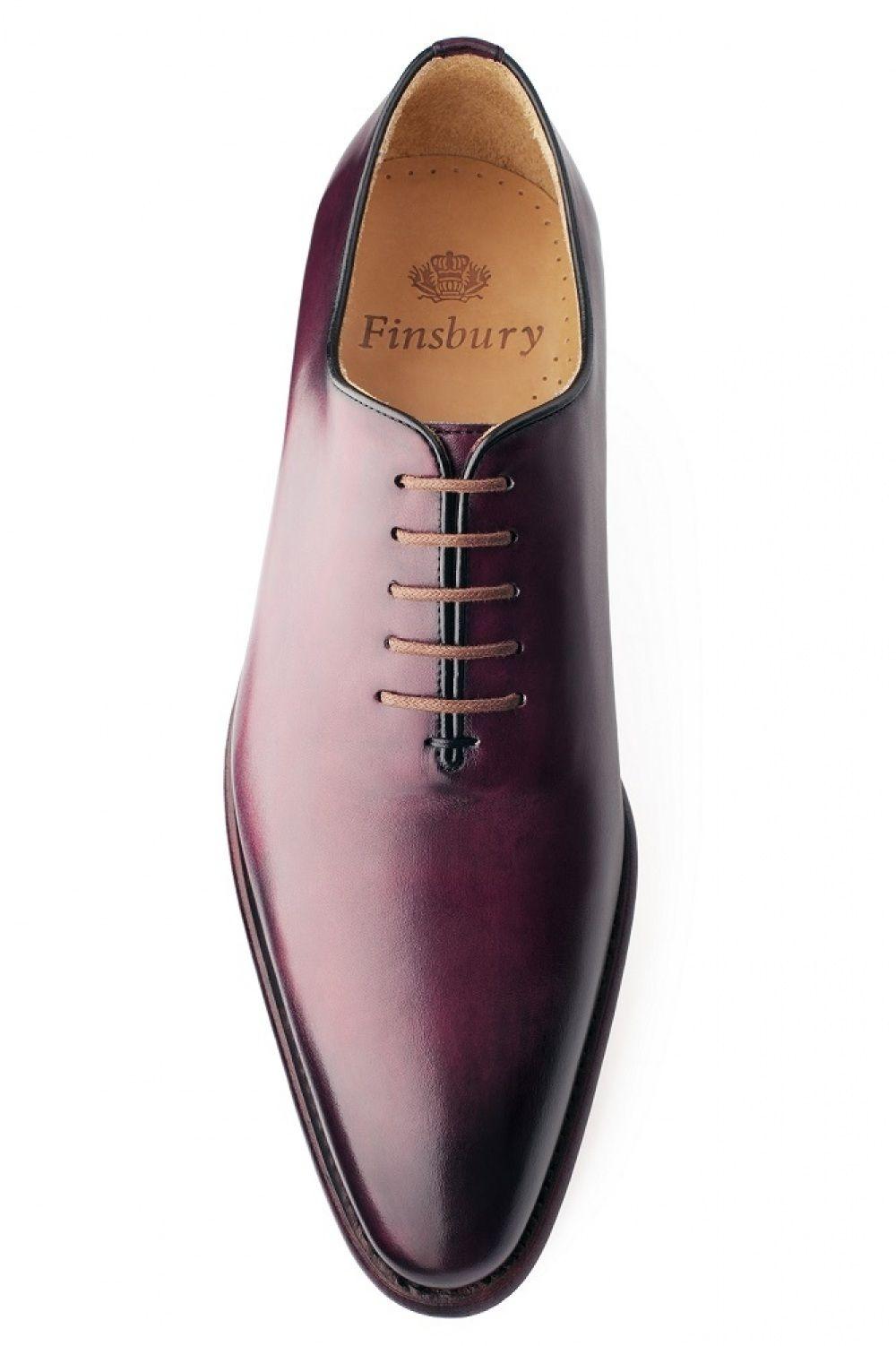 Richelieu Giulia Noir Patiné pour Homme Finsbury Shoes