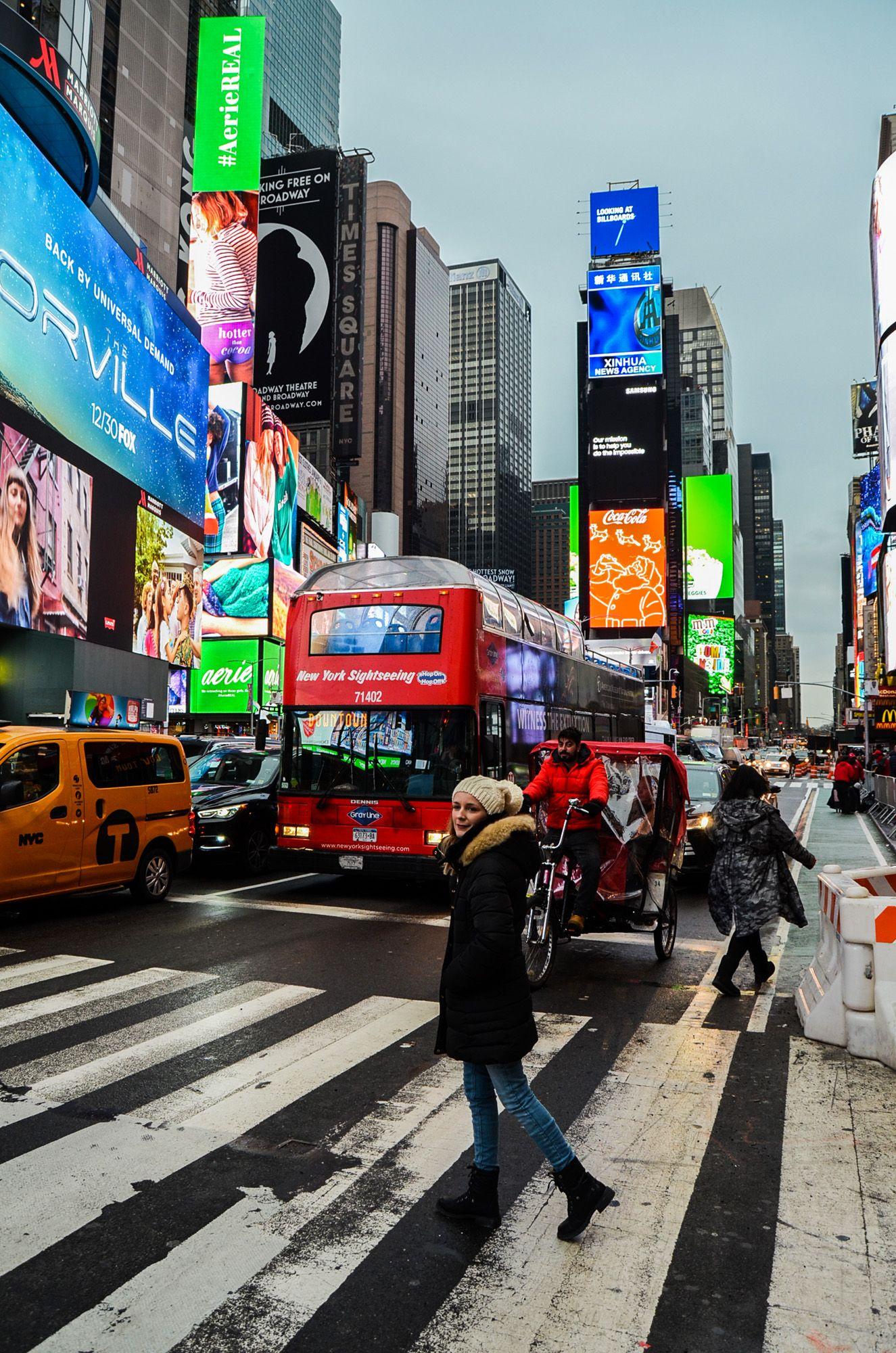 Times Square, Ruta andando por Manhattan