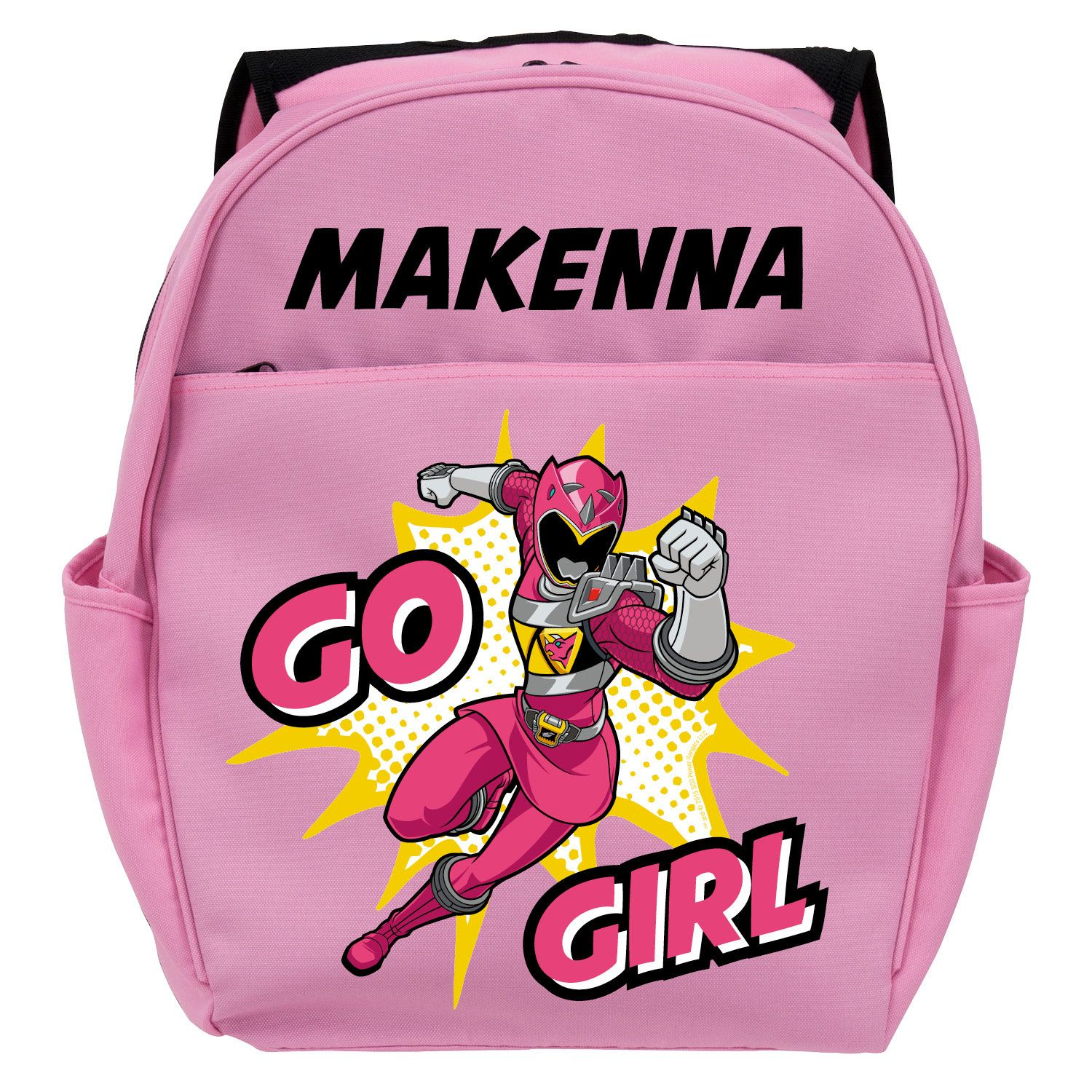 Power Rangers Go Girl Pink Toddler Personalized Backpack
