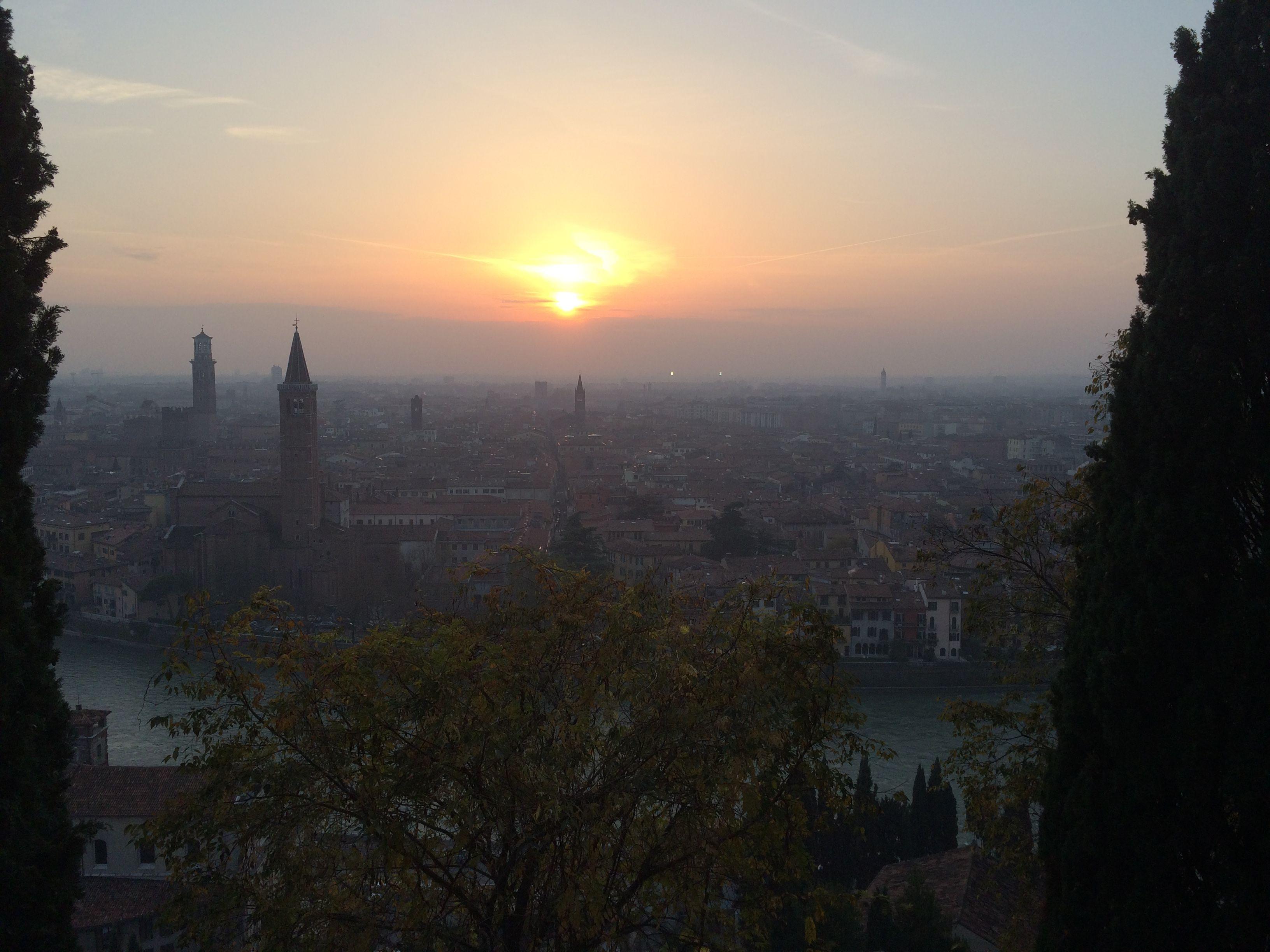Atardecer en Verona, Italia